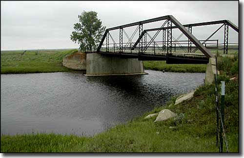 The Poplar River at Scobey, Montana