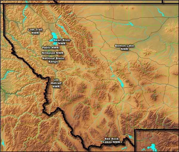 Montana's National Wildlife Refuges map