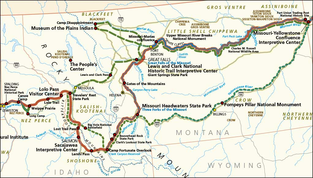 Lewis and Clark National Historic Trail – Lewis And Clark Travel Map