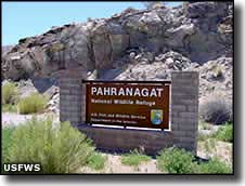 Sign at Pahranagat National Wildlife Refuge