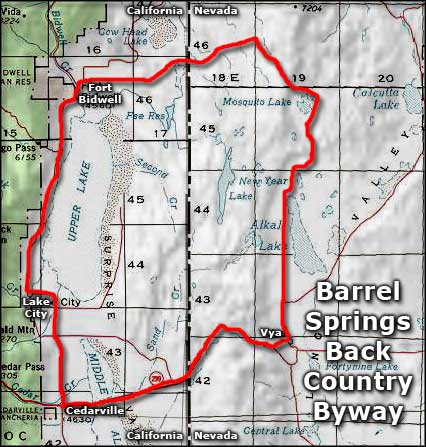 Barrel Springs Back Country Byway area map