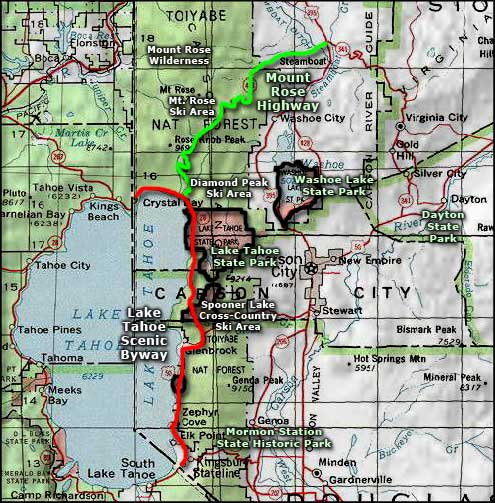 Mt. Rose Ski Tahoe area map