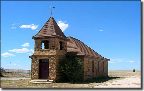 The old church in Solano, New Mexico