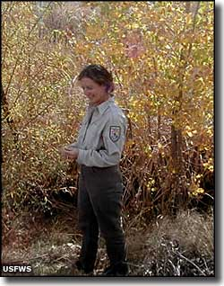 A Fish and Wildlife officer at Bosque del Apache NWR