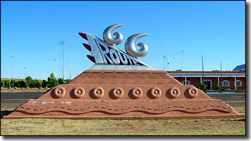 Route 66 sculpture, Tucumcari, New Mexico
