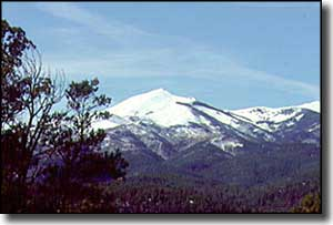 Snow on the Sierra Blancas (White Mountains)
