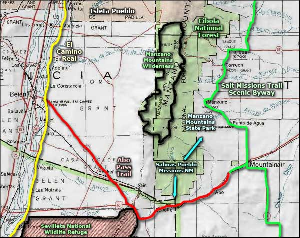 Abo Pass Trail Scenic Byway area map