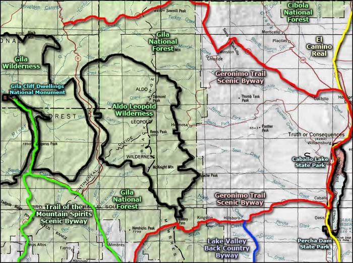 Geronimo Trails Scenic Byway area map