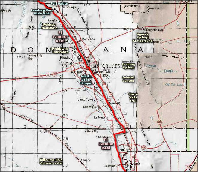 Mesilla Valley Bosque area map