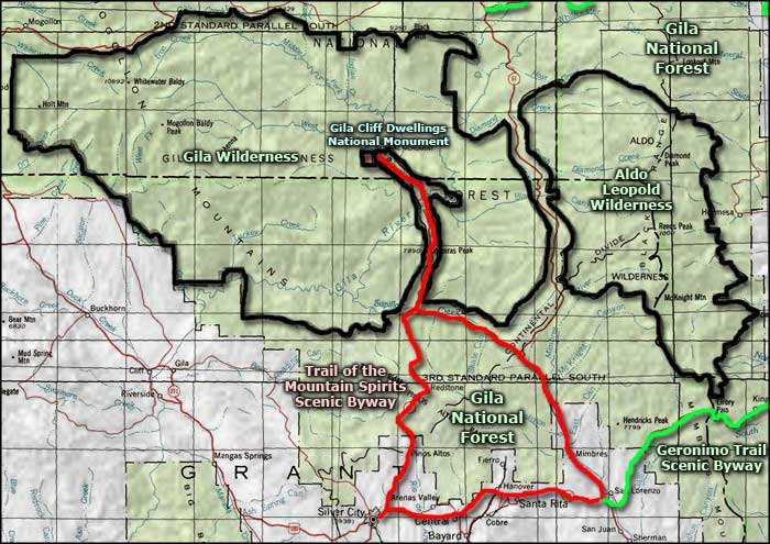 Aldo Leopold Wilderness area map