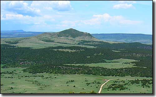 Sierra Grande in the distance, from the summit of Capulin Volcano