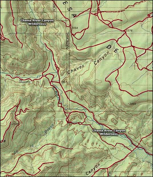 Rio Chama Wild and Scenic River area map