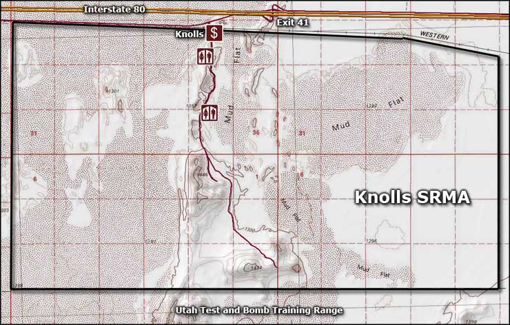 Knolls SRMA area map