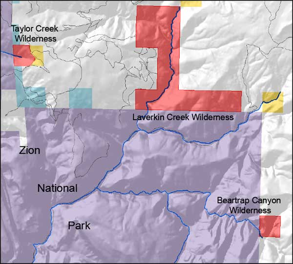 Beartrap Canyon Wilderness location map