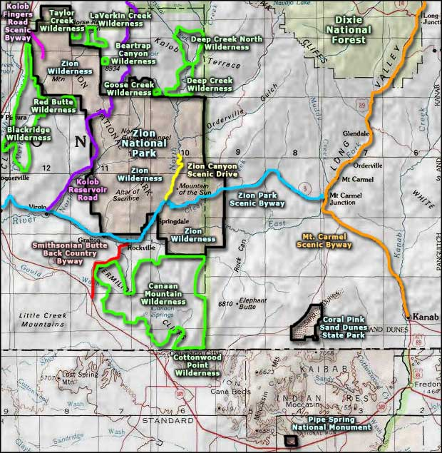 Taylor Creek Wilderness area map