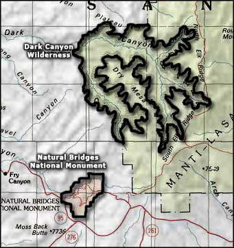 Dark Canyon Wilderness map