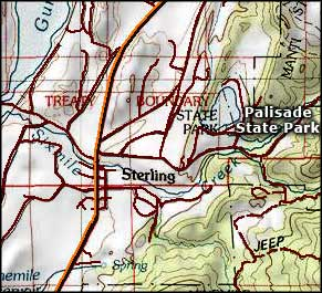 Palisade State Park area map