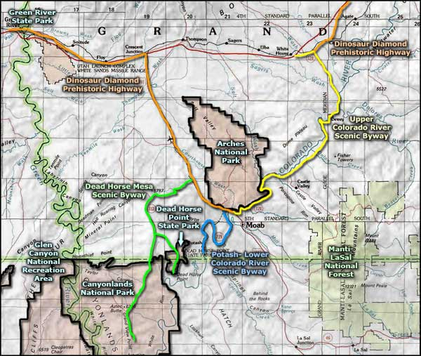 Upper Colorado River Scenic Byway area map