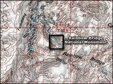 Rainbow Bridge National Monument topo map