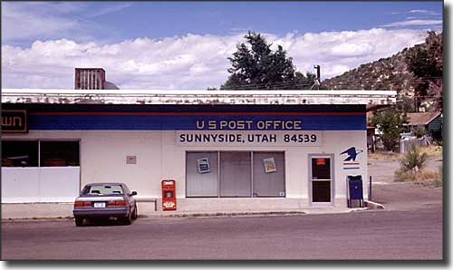 The Post Office in Sunnyside, Utah