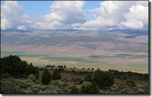 The view across Grass Valley in Piute County