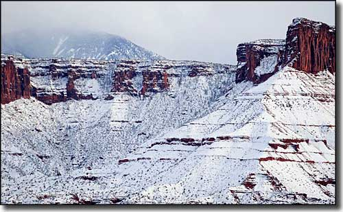 Along the Upper Colorado River Scenic Byway in winter