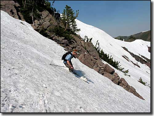 June skiing conditions at Snowbasin Resort
