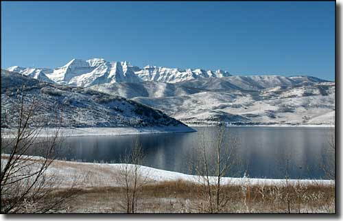 Deer Creek State Park with Mount Timpanogos in the distance