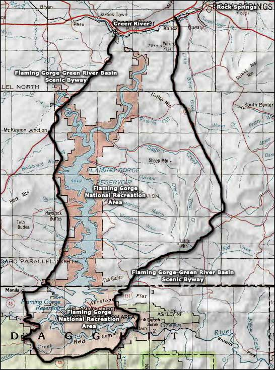Flaming Gorge National Recreation Area area map