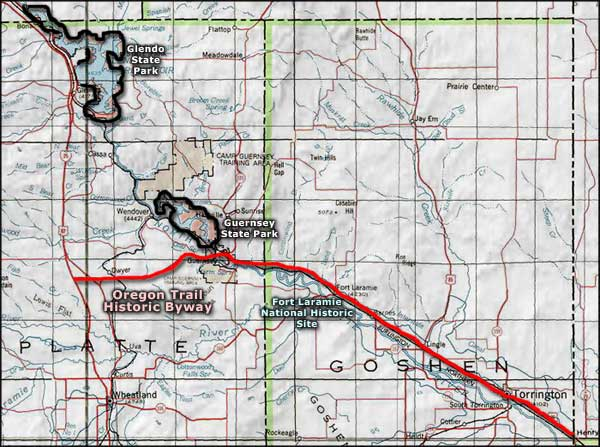 Map Of Oregon Trail Route  ART DESIGNS