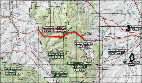 Platte River Wilderness area map